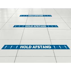 Hold afstand - gulvfolie linje