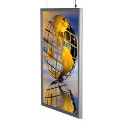 LED Lysskilt med print - dobbeltsidet